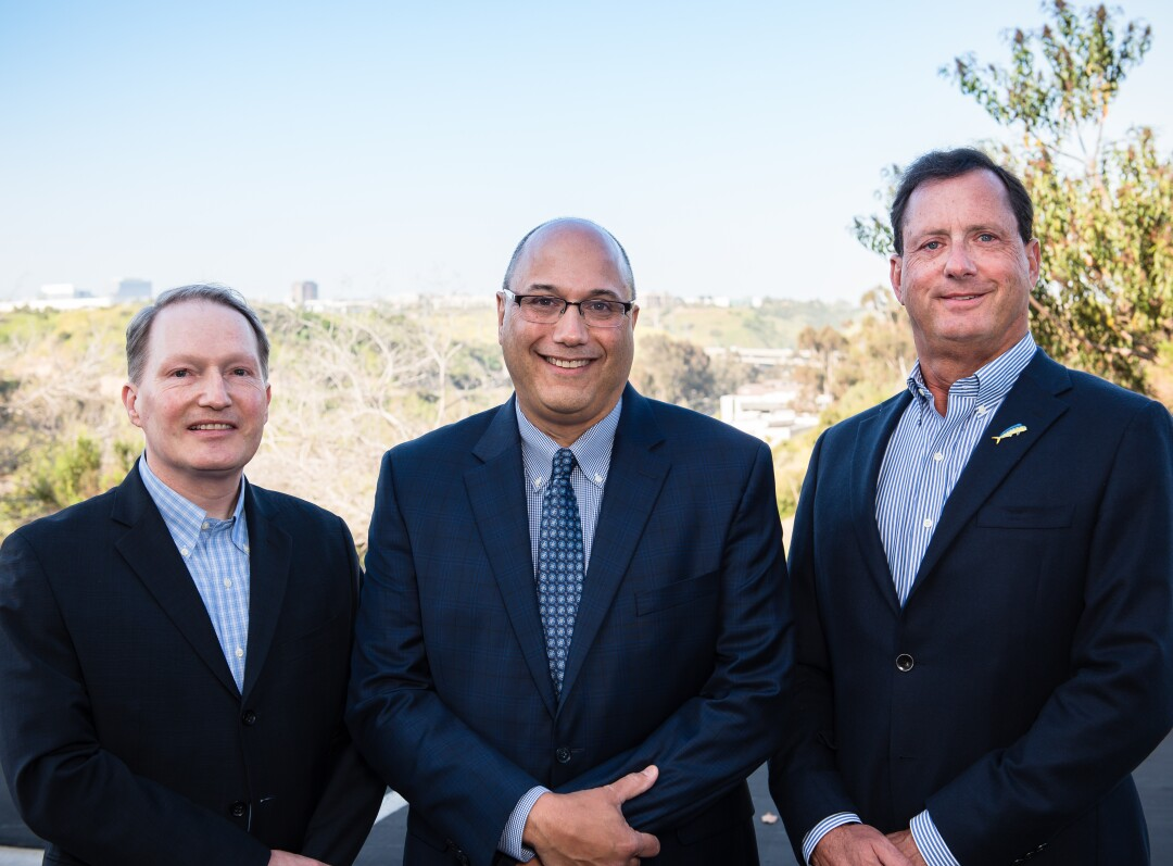 Chris Dammann, co-founder and CTO, Lou Cooperhouse, co-founder, president and CEO; and Chris Somogyi, co-founder and chairman of BlueNalu.