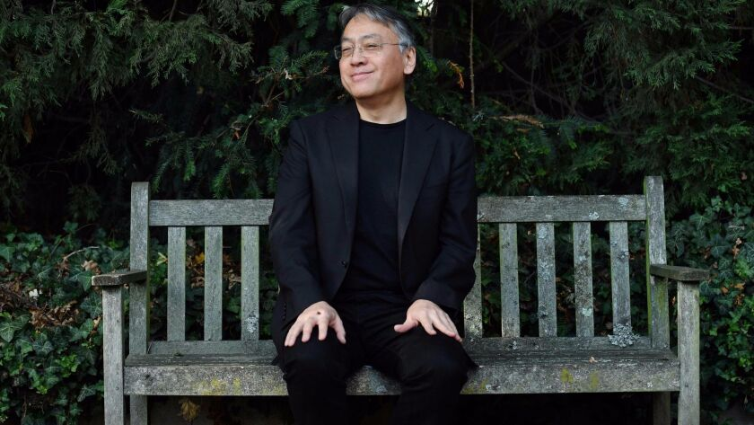 """Kazuo Ishiguro after winning the Nobel Prize, which the 62-year-old British writer called """"flabbergastingly flattering."""""""