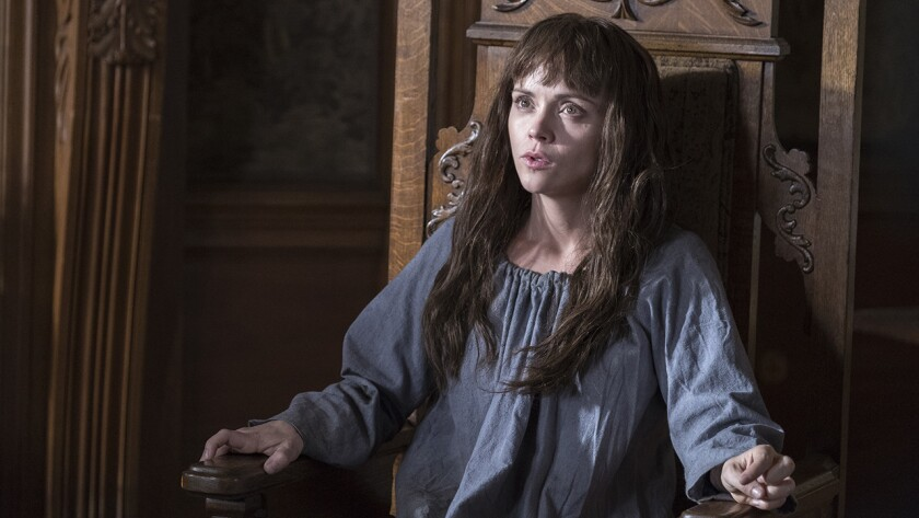 """Christina Ricci in """"Escaping the Madhouse: The Nellie Bly Story"""" on Lifetime."""