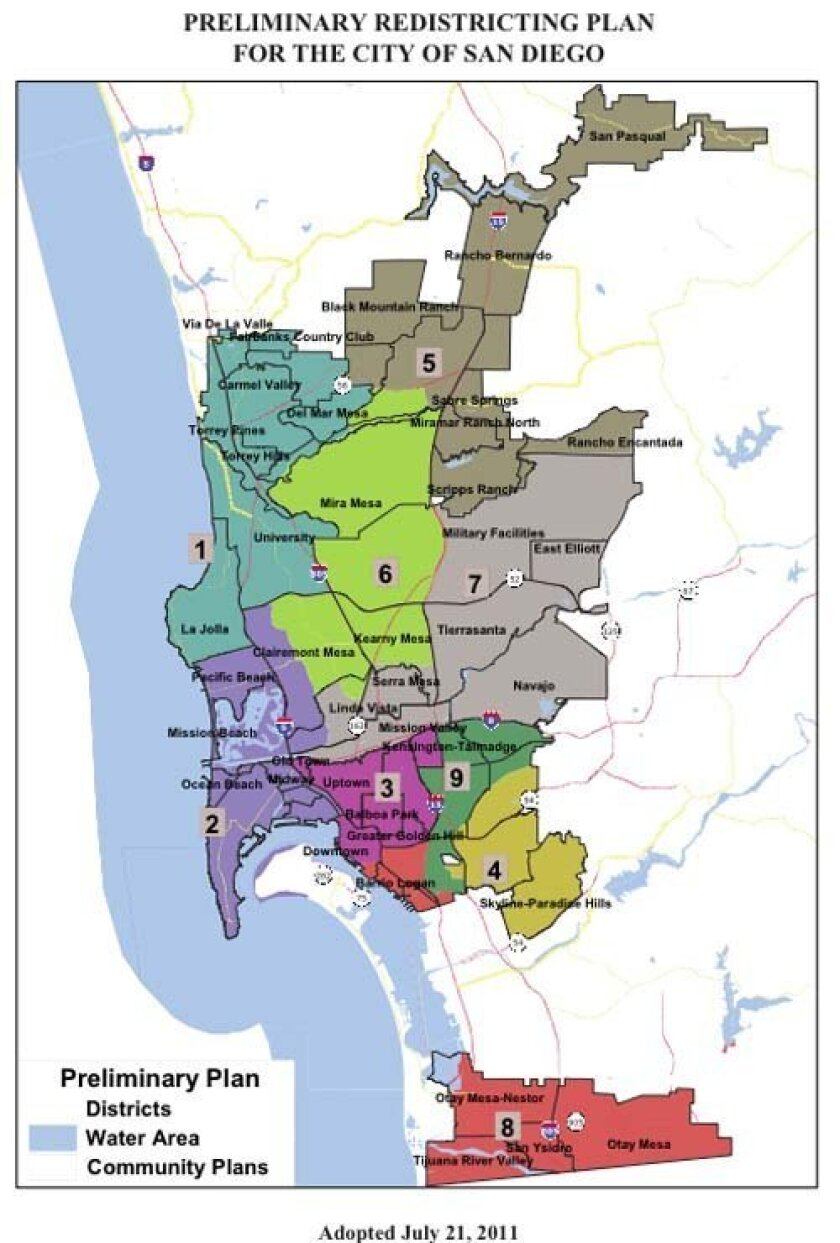 The working preliminary map as of July 21, 2011. Courtesy: SD Redistricting Commission