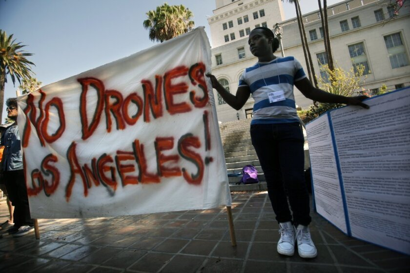Drones protest
