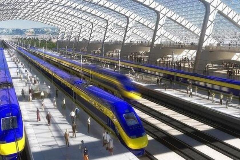 Artist's rendering of high-speed rail