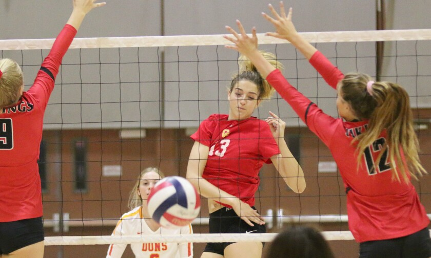 .Senior Lindsey Miller is big in the middle for Cathedral Catholic.