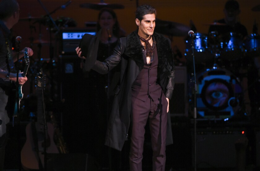 Perry Farrell performs at the Music of David Bowie tribute concert at Carnegie Hall in New York on March 31.