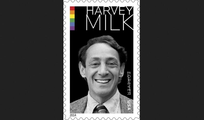 The Harvey Milk postage stamp.