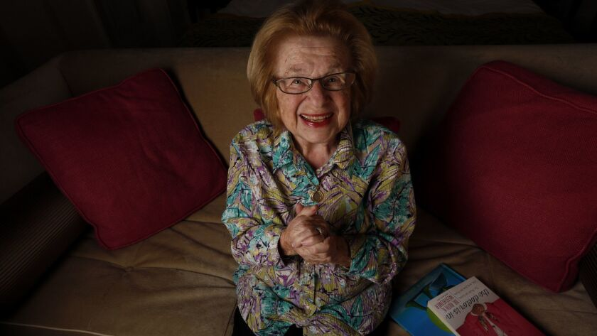 BEVERLY HILLS, CA - February 3, 2017: Portrait of Dr. Ruth, 88, an American sex therapist, at The B