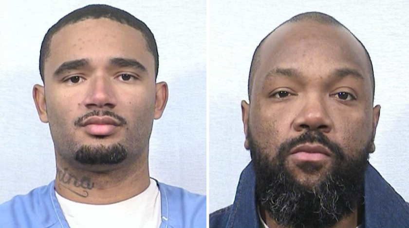 Leron Morris, left, is suspected of killing Rashell Clarke Jr. on Feb. 6 at a state prison in Lancaster.