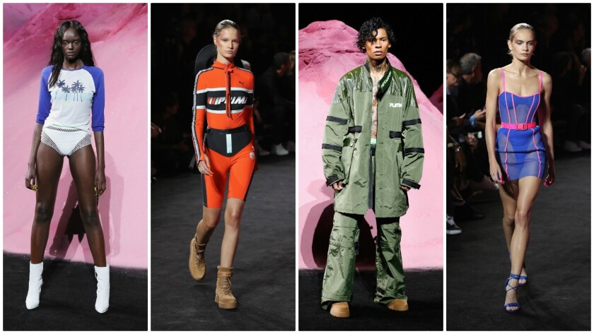 Looks from the spring and summer 2018 Fenty Puma by Rihanna runway collection.