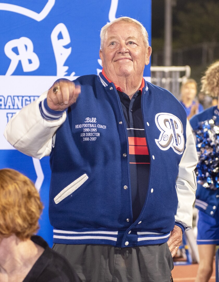 Retired RB football coach Bill Christopher