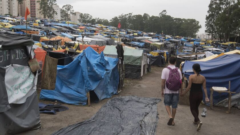 Housing settlement 'People without fear' in Brazil, Sao Bernando Do Campo - 30 Oct 2017