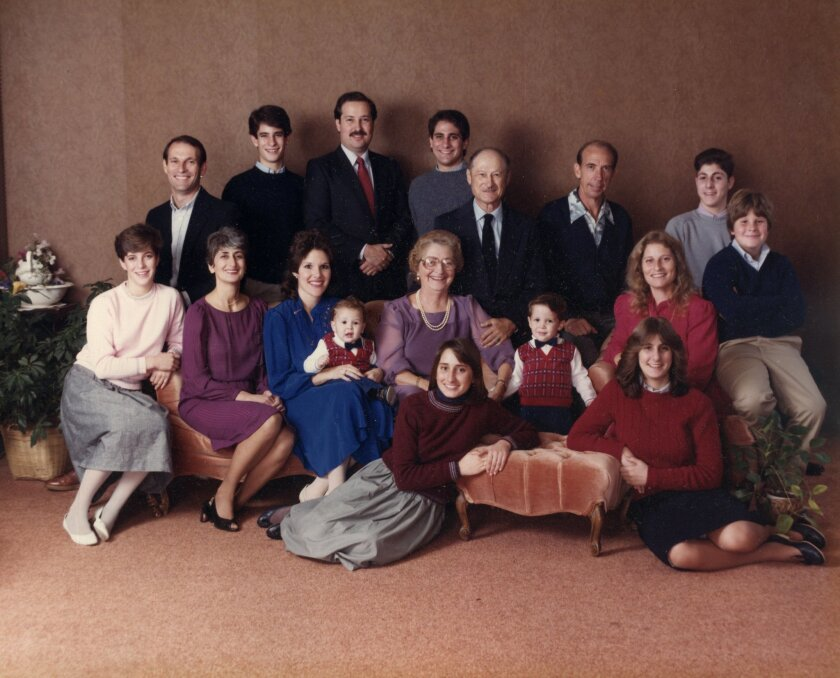 The Weiss family gathered in 1984 for the 50th wedding anniversary of Sam and Blanche Weiss of San Marcos. CREDIT: Sam and Blanche Weiss