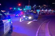 Brief police chase ends with crash and foot bail