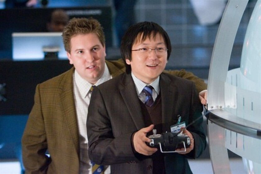 "Masi Oka, right and Nate Torrence appear in ""Get Smart."""
