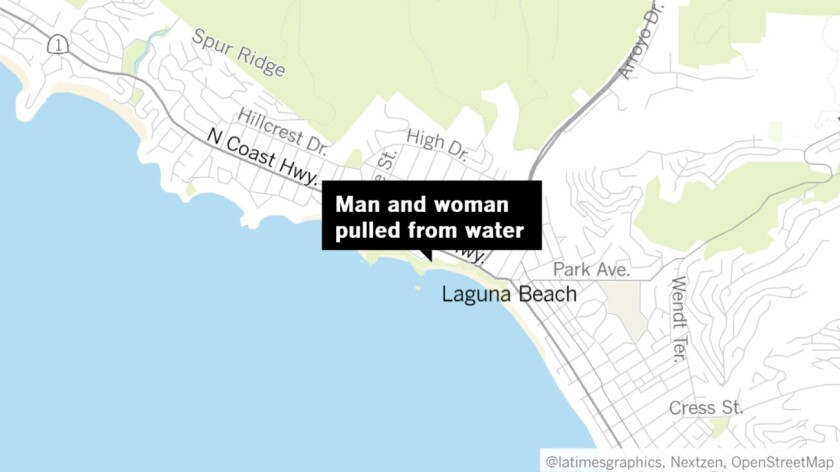 Man and woman pulled from water off Laguna Beach