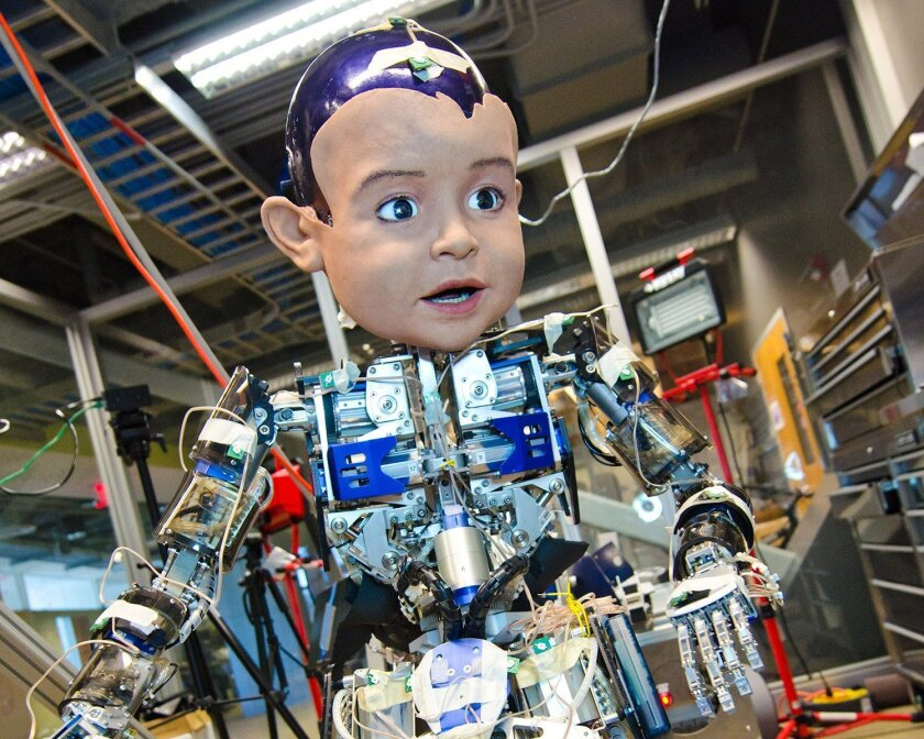UC San Diego developed Diego San, an experimental robot that is used in many research projects.