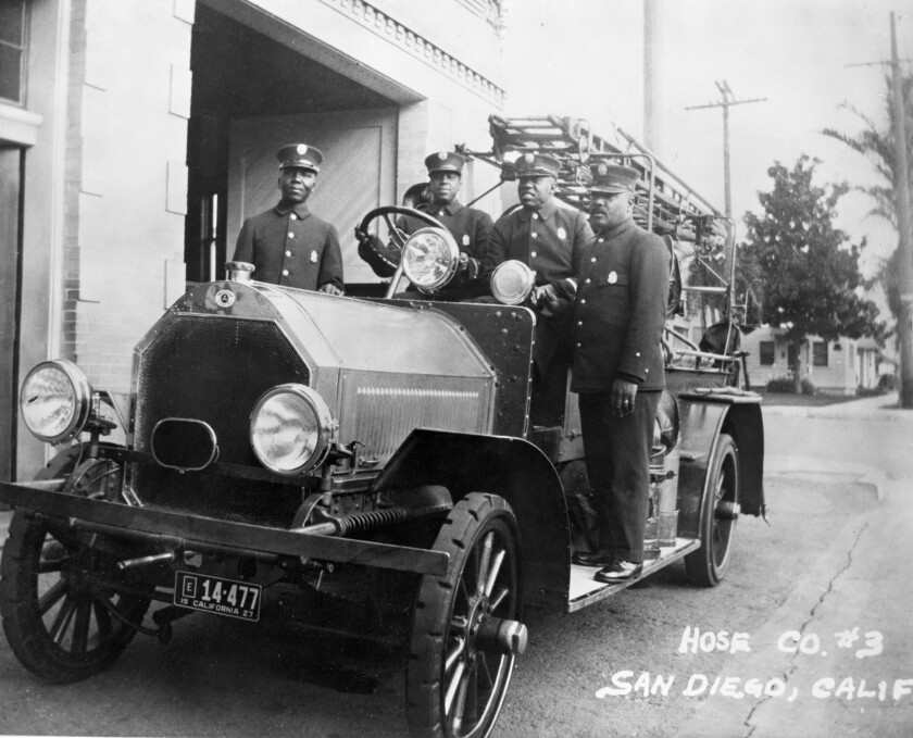 THE FIRST BLACK AMERICAN FIREFIGHTERS JOIN THE SAN DIEGO FIRE DEPARTMENT