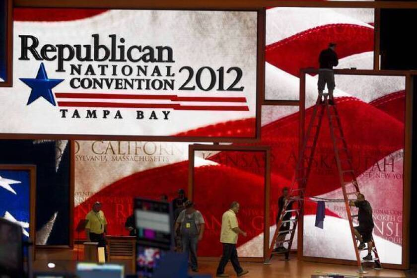 Because of the approaching storm, the Republican convention's four-day schedule of events will be compressed into three days.