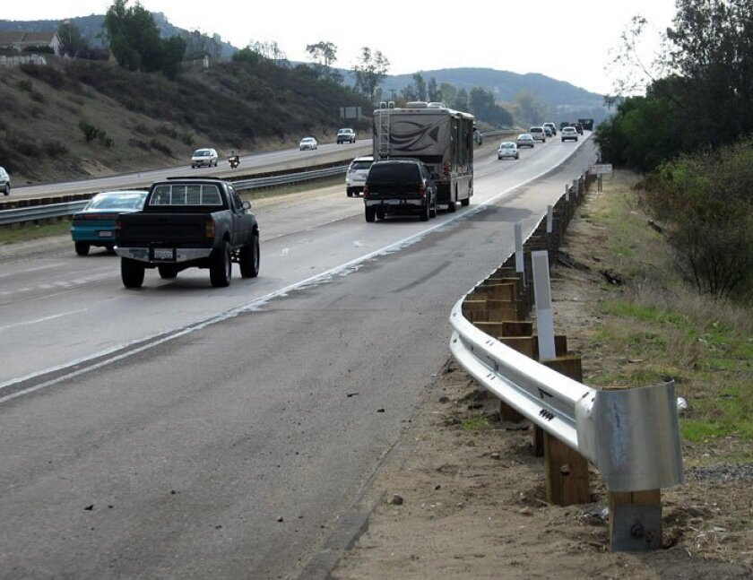 THE SITE: Interstate 8 near Lake Jennings Park Road