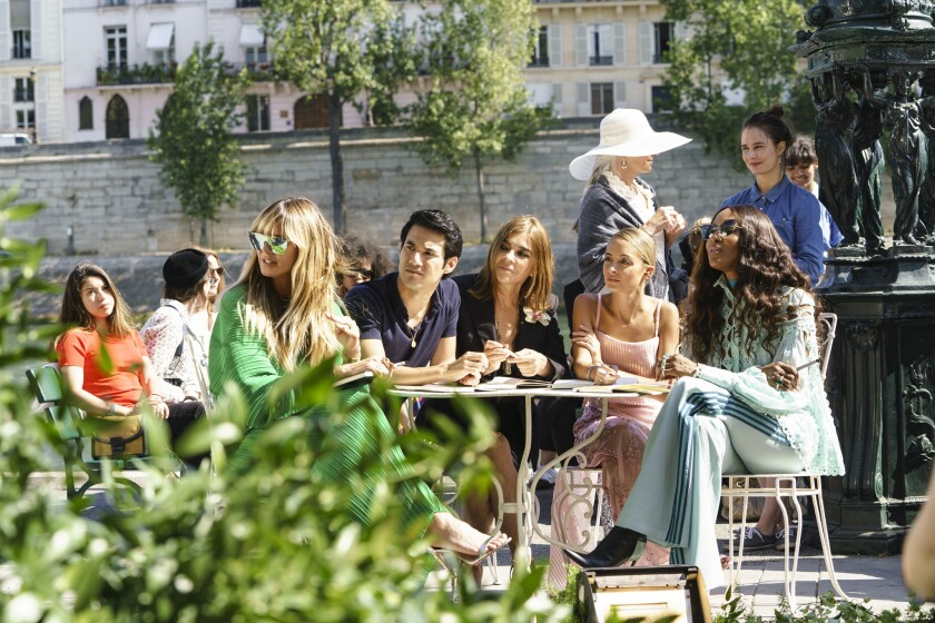 "The judges of ""Making the Cut"" in Paris. Heidi Klum, from left, Joseph Altuzarra, Carine Roitfeld, Nicole Richie and Naomi Campbell."