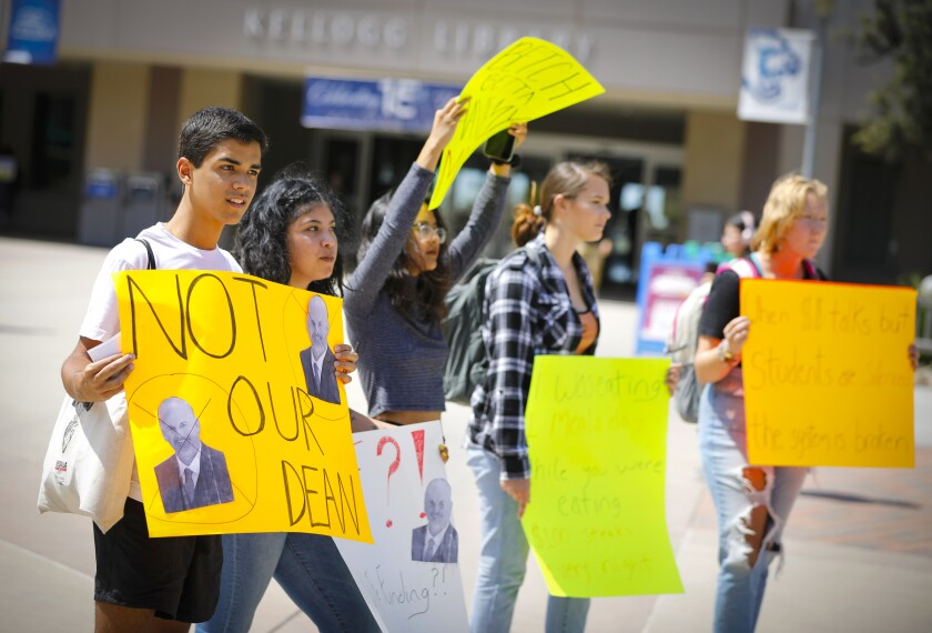 Cal State San Marcos Protest Dean Michael Schroder
