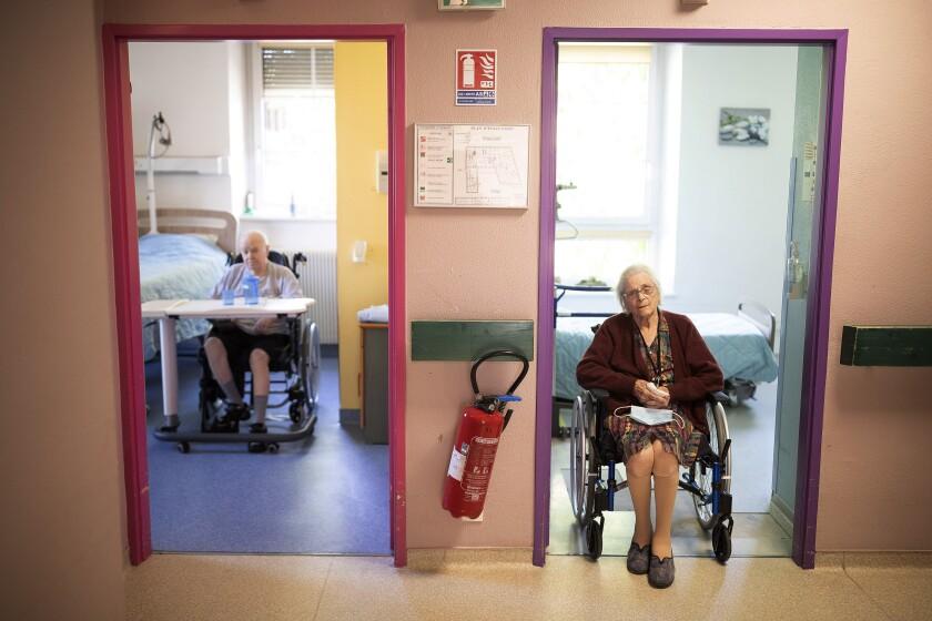 Virus Outbreak France Nursing Home Tests