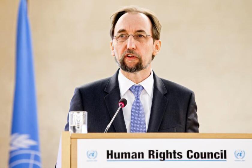 El alto comisionado de la ONU para los Derechos Humanos, Zeid Ra'ad al Hussein. EFE/Archivo