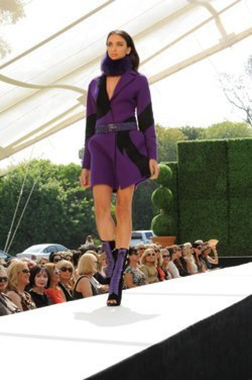 A model on the runway at last year's Art of Fashion event.