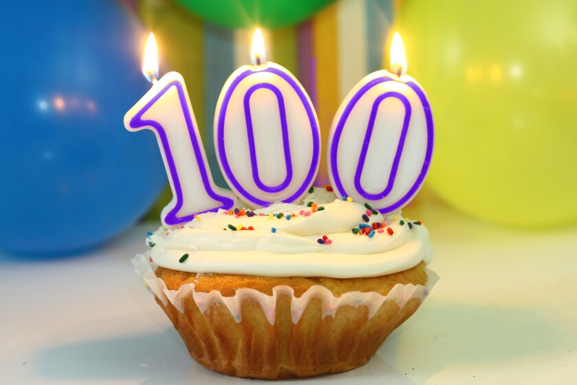 100th birthday clip art