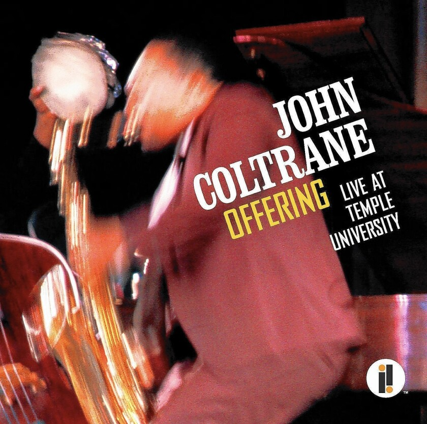 "The album cover of John Coltrane's ""Offering: Live at Temple University."""