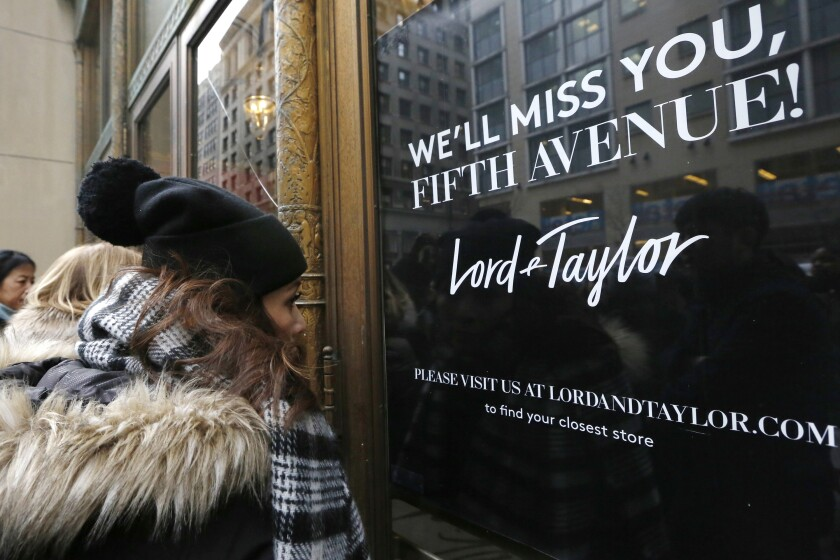 Lord & Taylor's flagship Fifth Avenue store