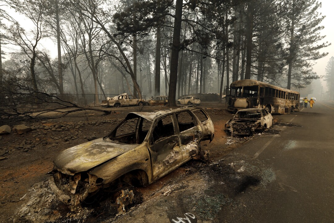 Damage from the Camp fire