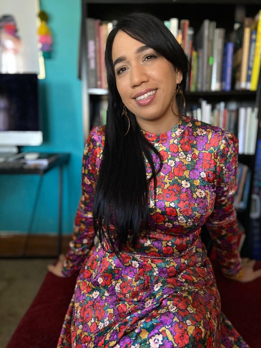 Marytza Rubio at Makara Library headquarters.