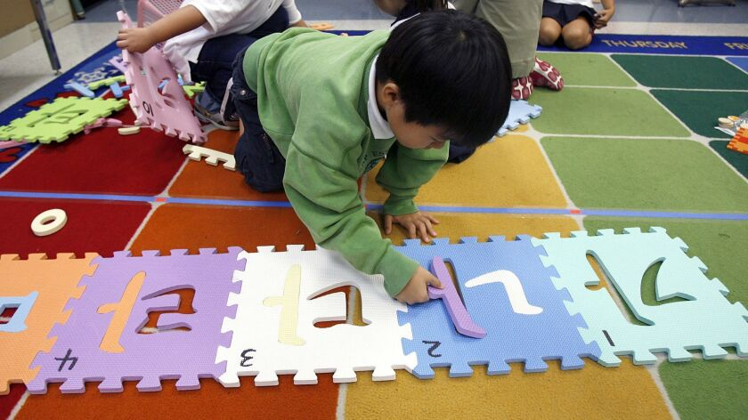 First graders sort Korean spelling patterns during Foreign Language Academy of Glendale (FLAG) Korea