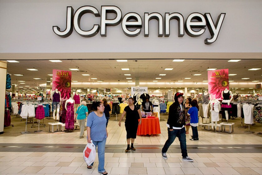 J.C. Penney reported its first positive sales increase since 2011.