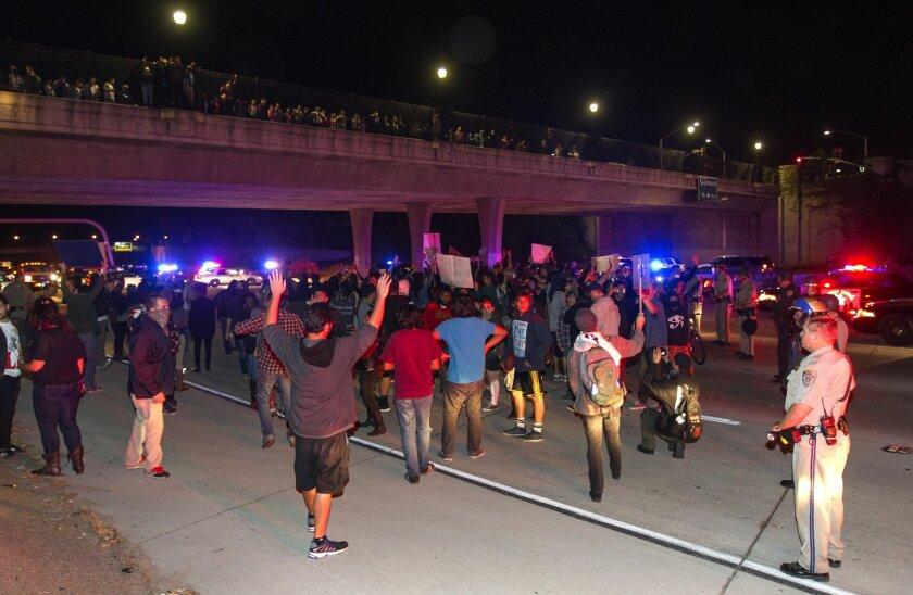 Locals protest Ferguson decision