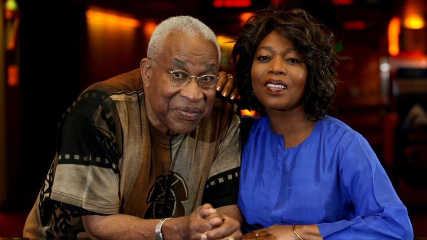 Ayuko Babu, left, is the executive director of the Pan African Film Festival in Los Angeles, and actress Alfre Woodard is receiving the festival's Lifetime Achievement Award.