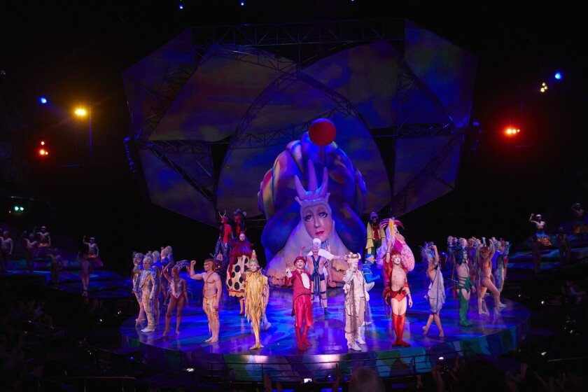 Cirque du Soleil's Mystere at Treasure Island.