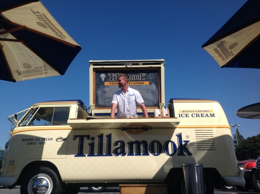 A Tillamook ice cream truck will be giving away from ice cream in Westwood on Thursday.
