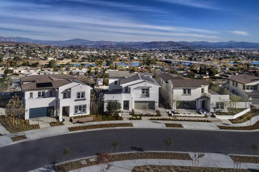 Boasting views of East County's scenic hillsides, Lake Ridge at Weston offers homes of three to six bedrooms, up to 4.5 bathrooms and large two-bay garages. The 7,000-acre Mission Trails Regional Park and recreational preserve of Santee Lakes are nearby.