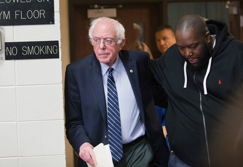 Bernie Sanders campaigns with Killer Mike