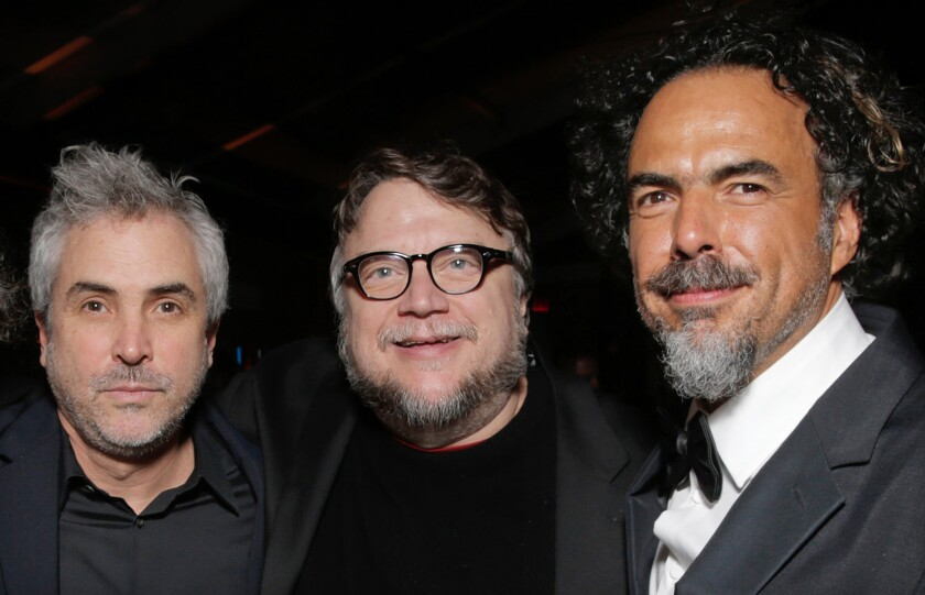 Chivo Lubezki, Alfonso Cuarón, Guillermo del Toro, Alejandro González Iñárritu