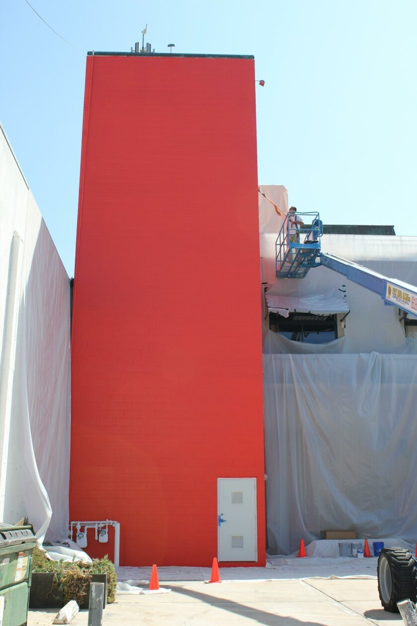 Heather Gwen Martin's 'Landing' is in the process of being installed at 7724 Girard Ave., as part of the Murals of La Jolla public-art series.