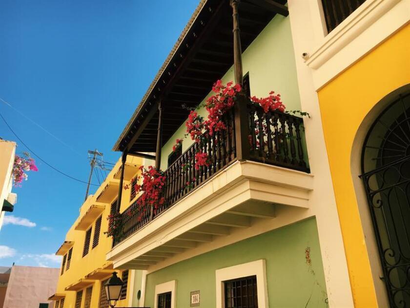 Fotografía sin fecha cedida por Discover Puerto Rico donde aparece el detalle de un edificio en el Viejo San Juan (Puerto Rico). EFE/Discover Puerto Rico/SOLO USO EDITORIAL/NO VENTAS