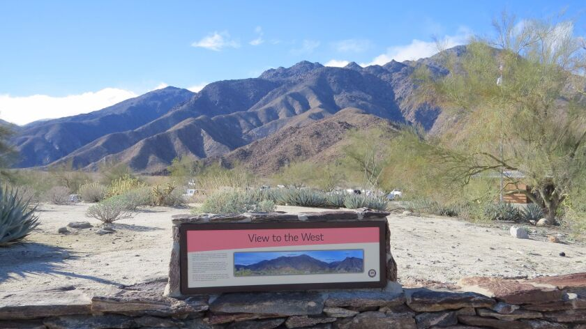 Some of the new signs in Anza-Borrego Desert State Park explain what it is people are seeing in the vast expanse.