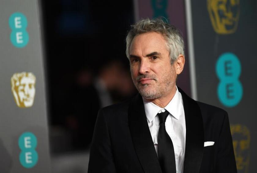 El director mexicano Alfonso Cuarón asiste a la 72? edición anual de los Premios de la Academia Británica de Cine en el Royal Albert Hall de Londres, Gran Bretaña. EFE