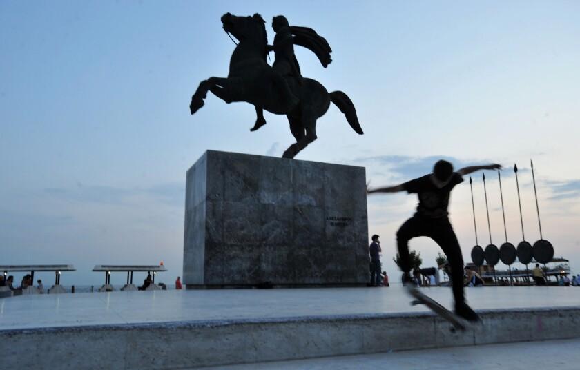 Macedonia Alexanders Statue