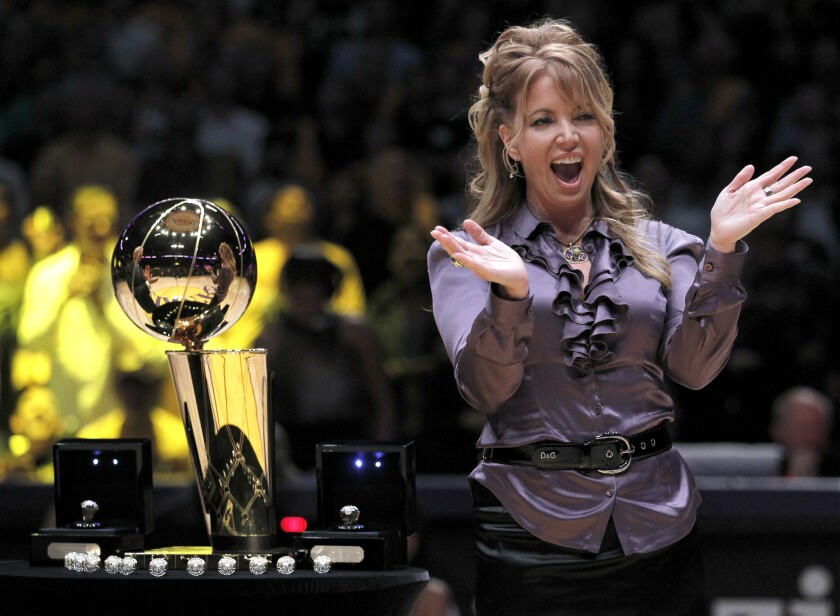 Jeanie Buss supports the NBA's sanctions against Donald Sterling.