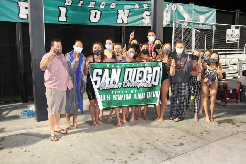 The Torrey Pines girls swim team.
