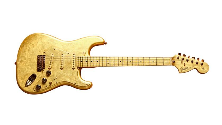 Prince's custom gold–leaf Fender Stratocaster.