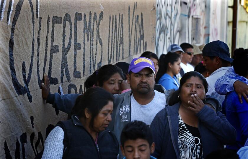 Striking farmworkers in Baja California, Mexico